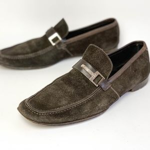 Ermenegildo Zegna Driver Loafers Mens 10D Shoes